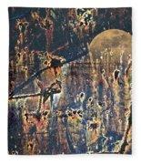 Bad Moon Rising Fleece Blanket