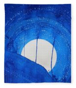 Bad Moon Rising Original Painting Fleece Blanket