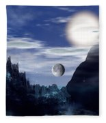 Bad Moons On The Rise Fleece Blanket
