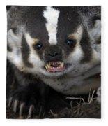 Badger-animal-image Fleece Blanket