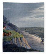 Badger Catching, 1820 Fleece Blanket