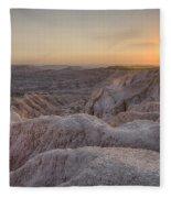 Badlands Overlook Sunset Fleece Blanket