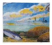 Fishing Baffin Bay Texas  Fleece Blanket
