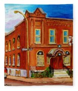 Bagg And Clark Street Synagogue Fleece Blanket