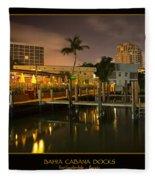 Bahia Cabana Docks Fleece Blanket