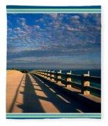 Bahia Honda Bridge In The Florida Keys Fleece Blanket