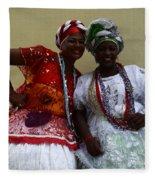 Bahian Ladies Of Salvador Brazil 3 Fleece Blanket