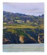 Baily Lighthouse Panorama 1 Fleece Blanket