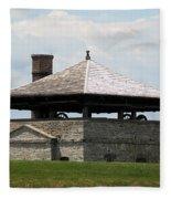 Bake House At Old Fort Niagara Fleece Blanket