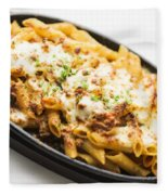 Baked Pasta With Meat And Cheese Fleece Blanket