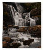 Bakers Fall. Horton Plains National Park. Sri Lanka Fleece Blanket