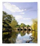 Bakewell Bridge - Over The River Wye Fleece Blanket