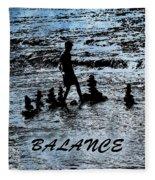 Balance And Zen Fleece Blanket