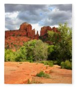 Balance At Cathedral Rock Fleece Blanket