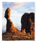 Balance Rock Fleece Blanket