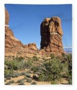 Balanced Rock Arches National Park Utah Fleece Blanket