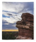 Balanced Rock At Sunrise - Garden Of The Gods - Colorado Springs Fleece Blanket