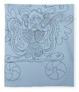 Balancing Clown - Doodle Fleece Blanket