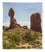 Balancing Rock In Arches Fleece Blanket