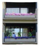 Balconies 4 Fleece Blanket