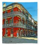 Balconies Painted Fleece Blanket