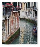 Balcony And The Gondola Fleece Blanket