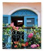 Balcony Blue By Diana Sainz Fleece Blanket
