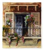 Balcony Of Ferrara Fleece Blanket