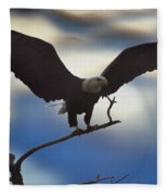 Bald Eagle And Clouds Fleece Blanket