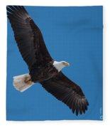 Bald Eagle In Flight 5 Fleece Blanket