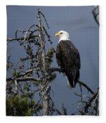 Bald Eagle On Watch Fleece Blanket