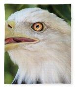 American Bald Eagle Portrait - Bright Eye Fleece Blanket