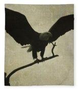 Bald Eagle Texture Fleece Blanket
