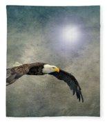 Bald Eagle Textured Art Fleece Blanket