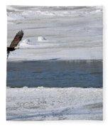 Bald Eagle With Fish 3655 Fleece Blanket