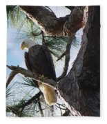 Bald Eagles Eye View Fleece Blanket