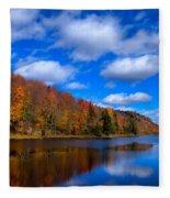 Bald Mountain Pond In Autumn Fleece Blanket