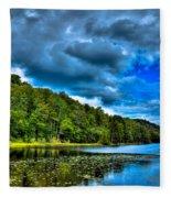 Bald Mountain Pond In Summer Fleece Blanket