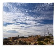 Bald Rock Glacial Erratics Fleece Blanket