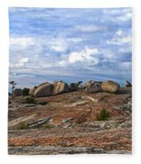 Bald Rock Panorama Fleece Blanket