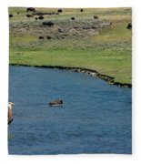 Baldy And Bull Fleece Blanket