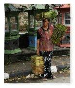 Bali Indonesia Proud People 1 Fleece Blanket
