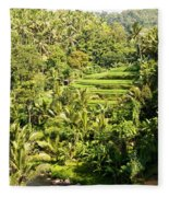 Bali Sayan Rice Terraces Fleece Blanket