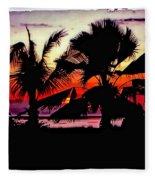 Bali Sunset Polaroid Transfer  Fleece Blanket