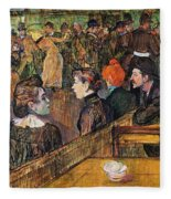 Ball At The Moulin De La Galette Fleece Blanket
