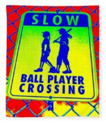 Ball Player Crossing Fleece Blanket