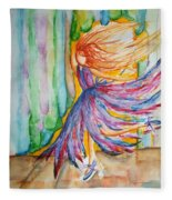 Ballerina Curtain Call Fleece Blanket