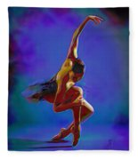 Ballerina On Point Fleece Blanket