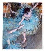 Ballerina On Pointe  Fleece Blanket