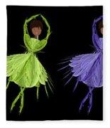 Ballerina Rainbow 2 Fleece Blanket